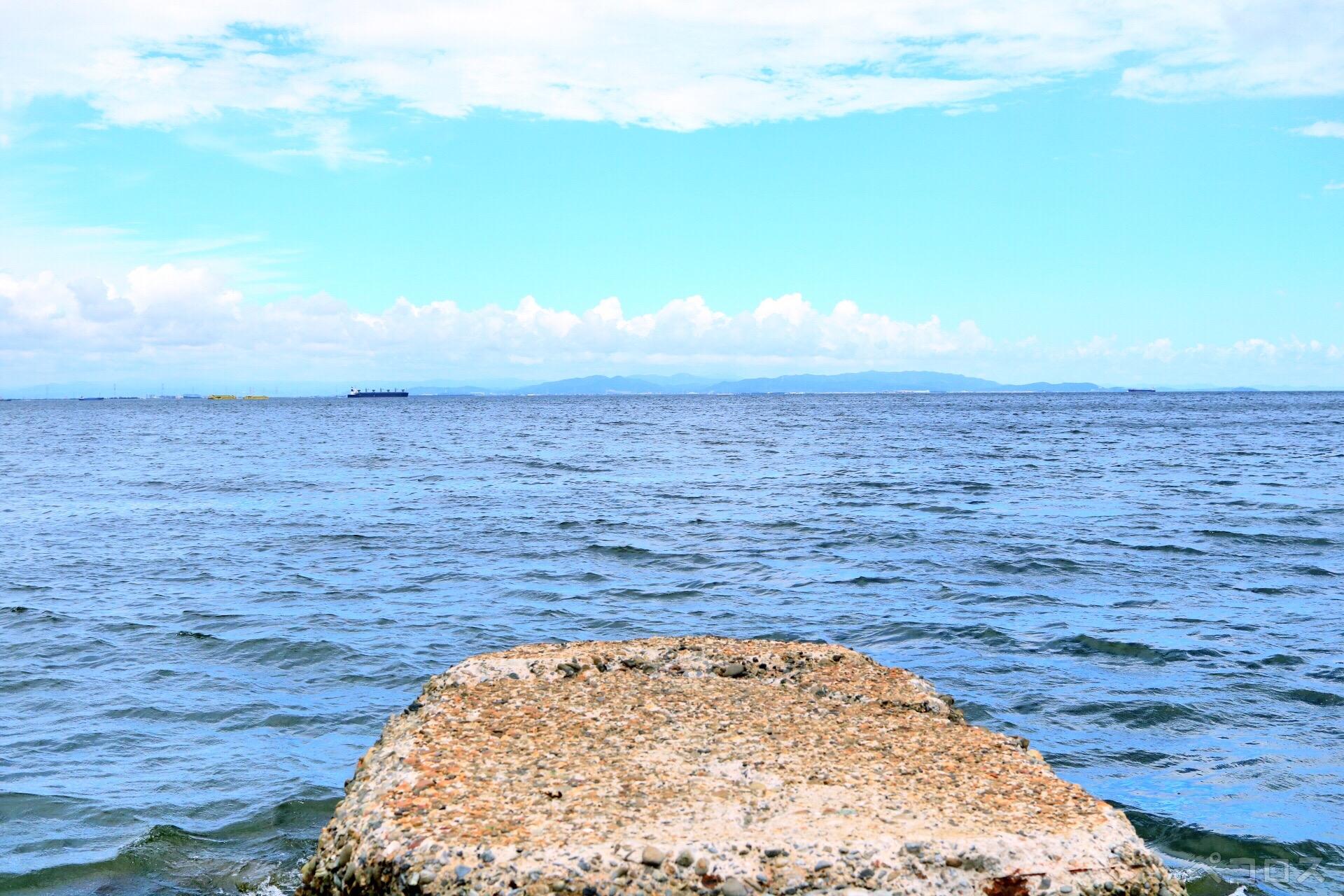 西尾市まで見える知多の海